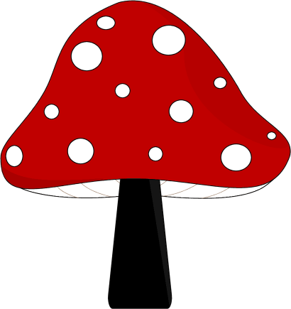 Red and Black Mushroom Clip Art - Red and Black Mushroom Image: cliparts.co/mushroom-clip-art