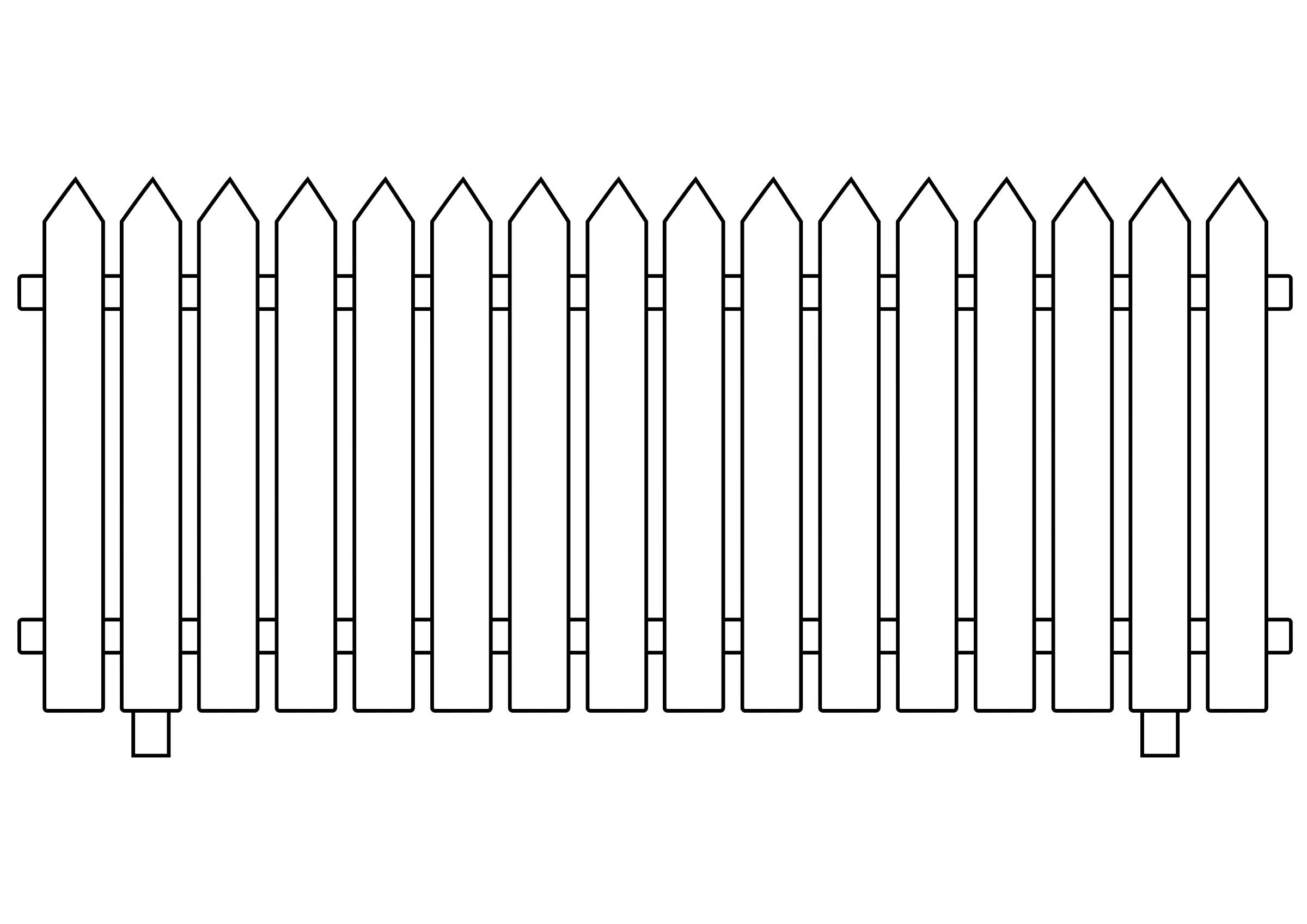 Pix For > Picket Fence Clipart