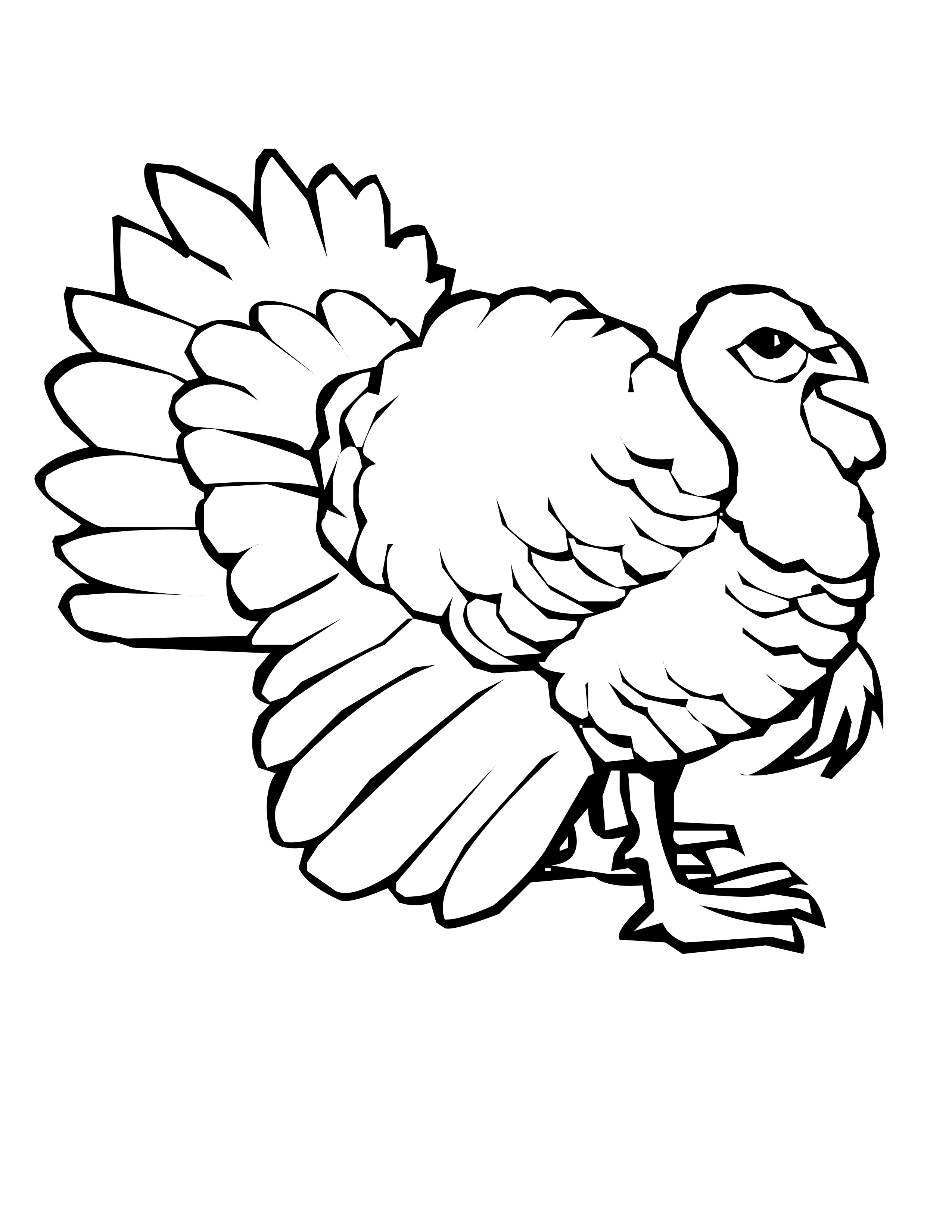 difficult turkey coloring pages - photo#30