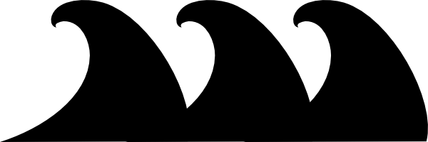 Wave Clipart Black And White - Cliparts.co
