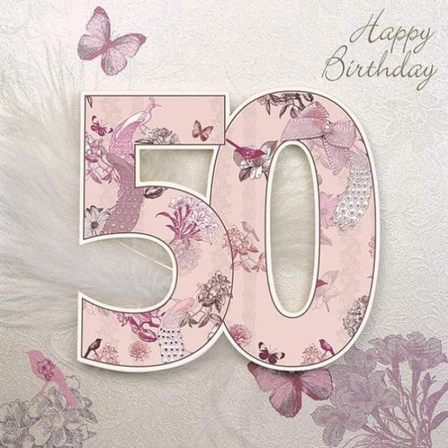 This is an image of Remarkable Free Printable 50th Birthday Cards