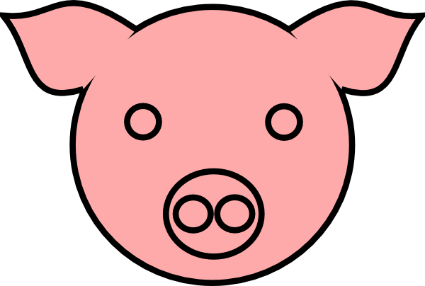 Pig Head Outline - Cliparts.co