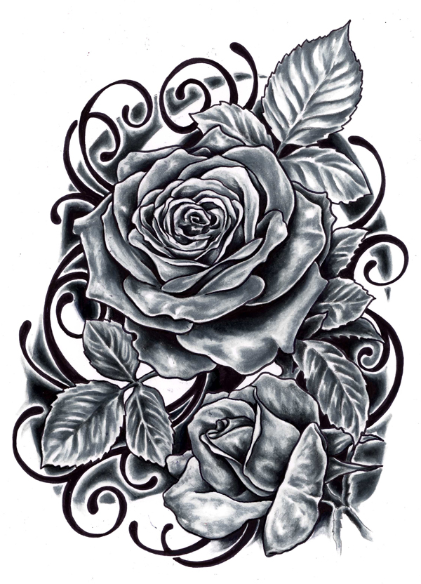 Tattoo Design Ideas abstract tattoo design ideas by phil tworavens 22 mysticism tattoo design with fusions between man and Black Roses Tattoo Designs Tattoos Designs Ideas