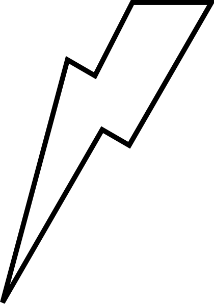 Lightning bolt outline for Lightning link template