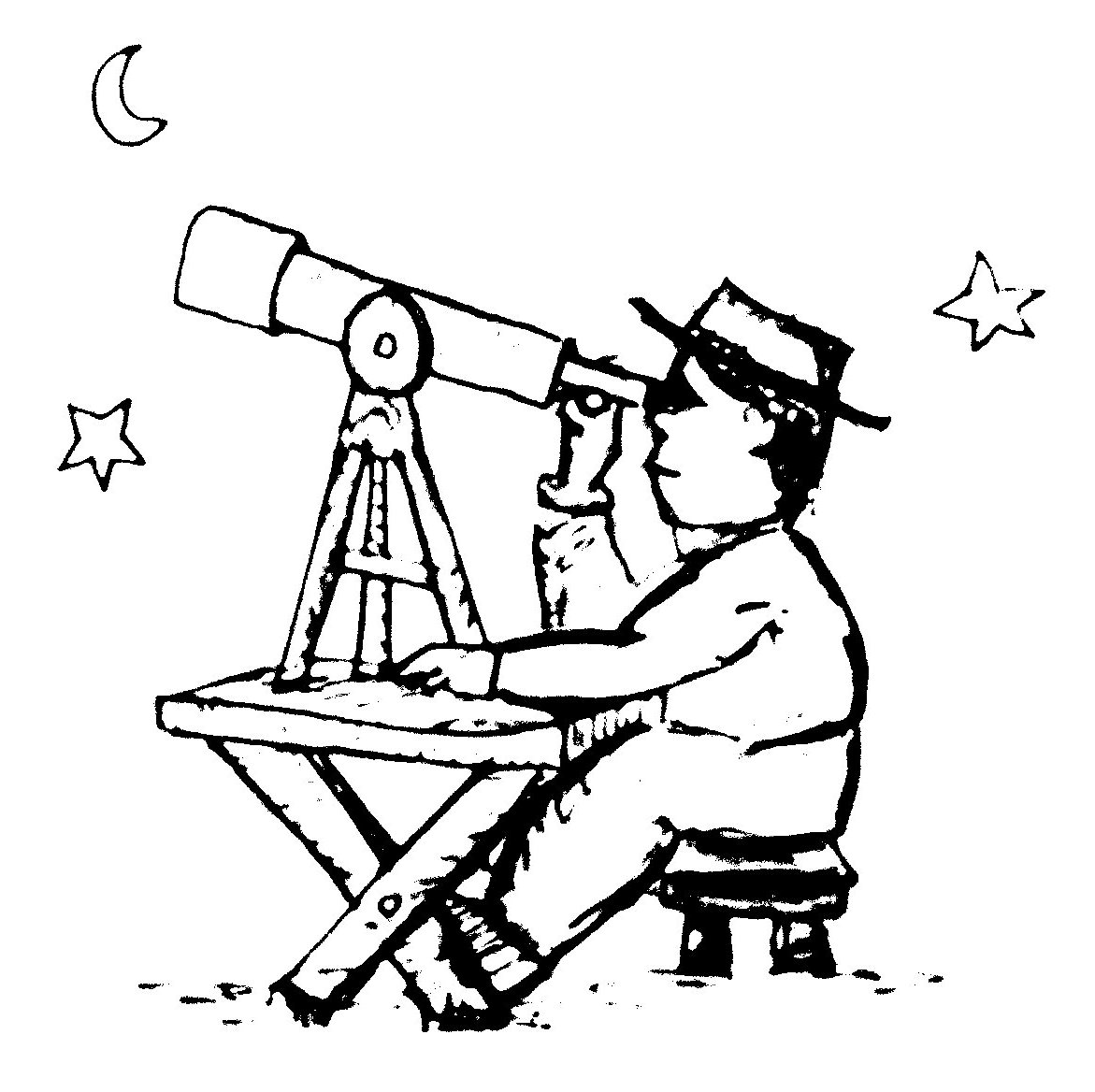 astronomy clipart black and white - photo #18