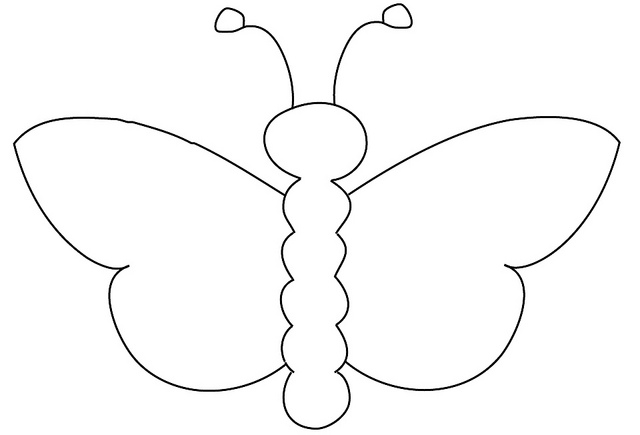 Butterfly Outline Pattern Cliparts Co Outline Pictures For Coloring