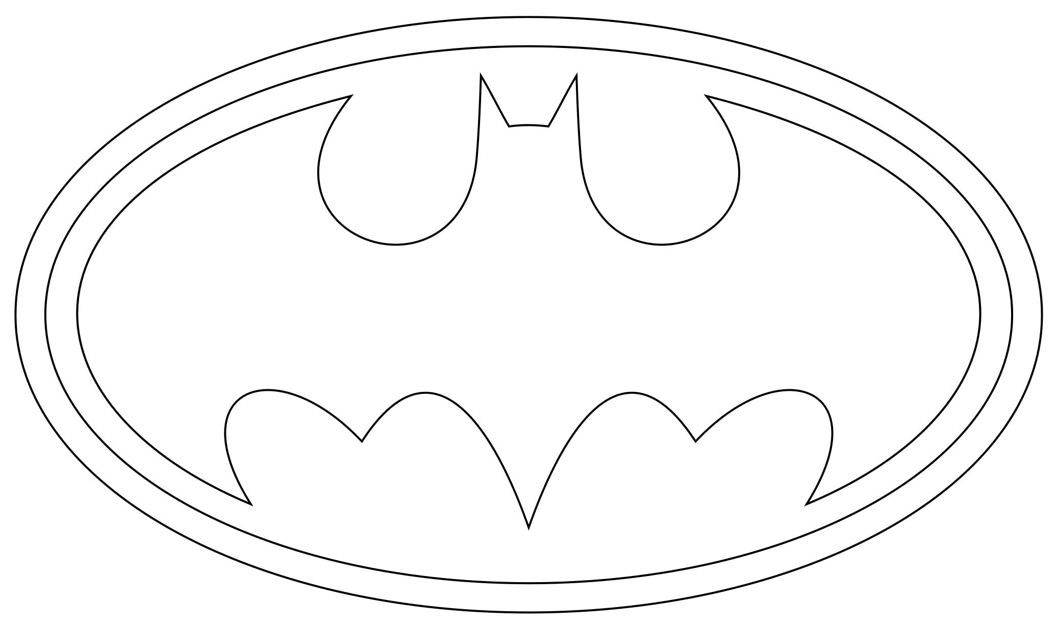 coloring pages batman printable logo - photo#10