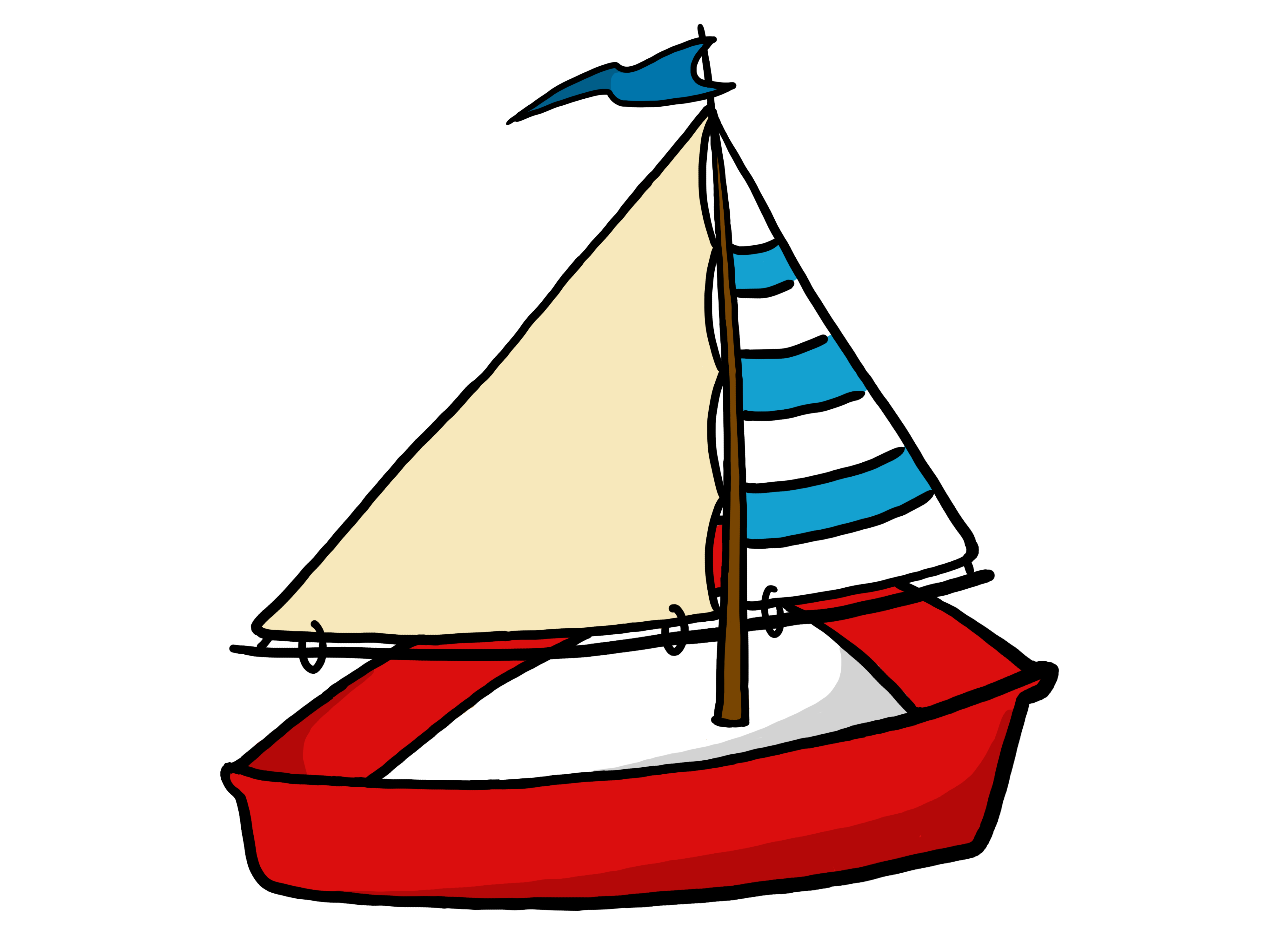 Clipart Of A Sailing Boat - ClipArt Best
