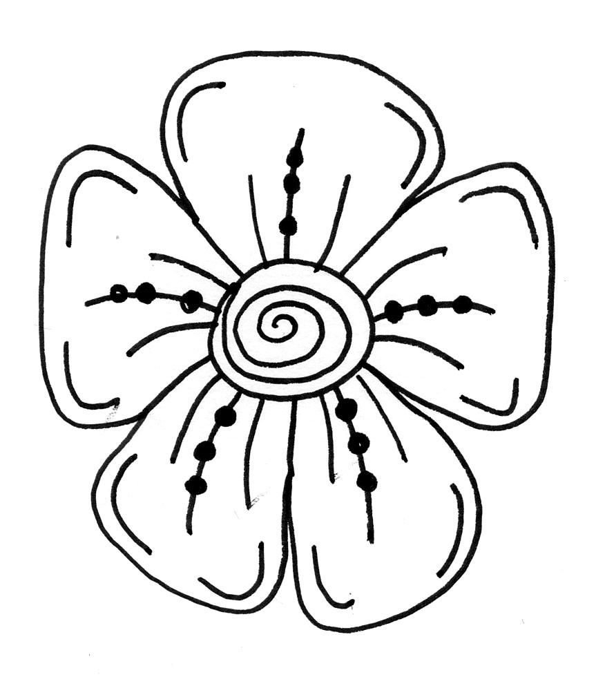 cool flower designs easy to draw