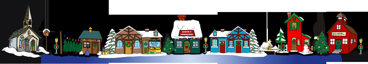 Christmas village clipart cliparts