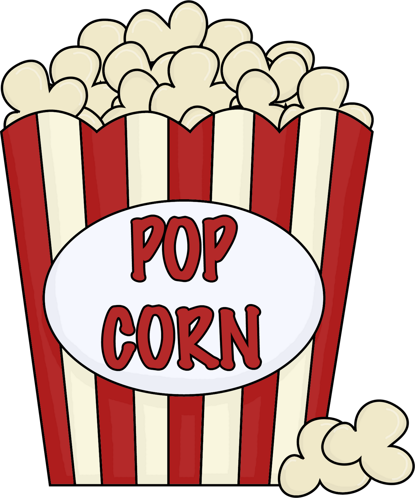 Images For > Popcorn Bag Clipart