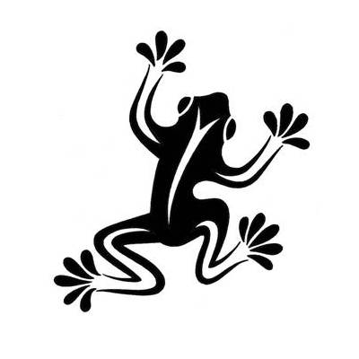 Cool Simple Tribal Frog Tattoo Design | Tattoobite. - ClipArt Best ...
