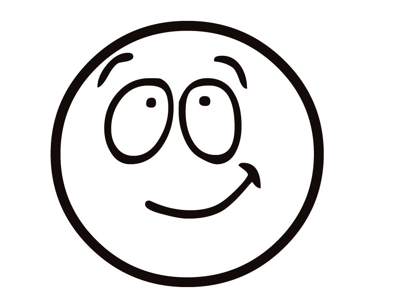 Line Drawing Of Happy Face : Happy face outline cliparts