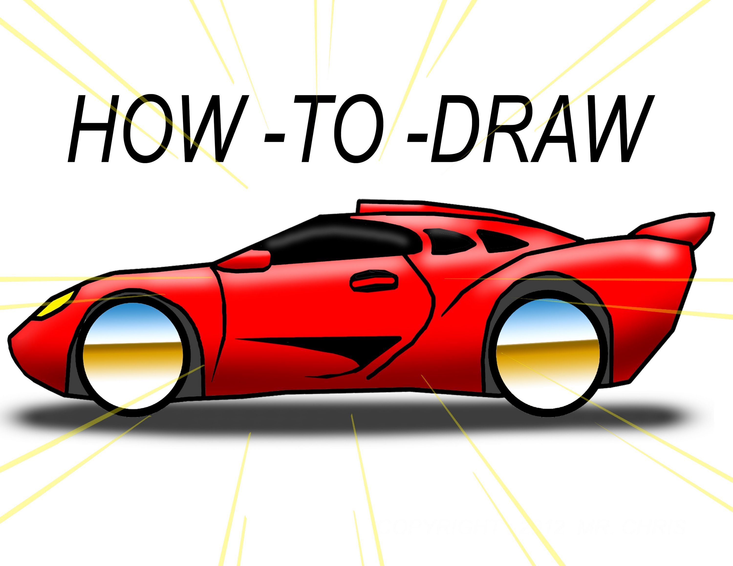 How To Draw cartoon EXOTIC CAR ( The EZ Way) - YouTube