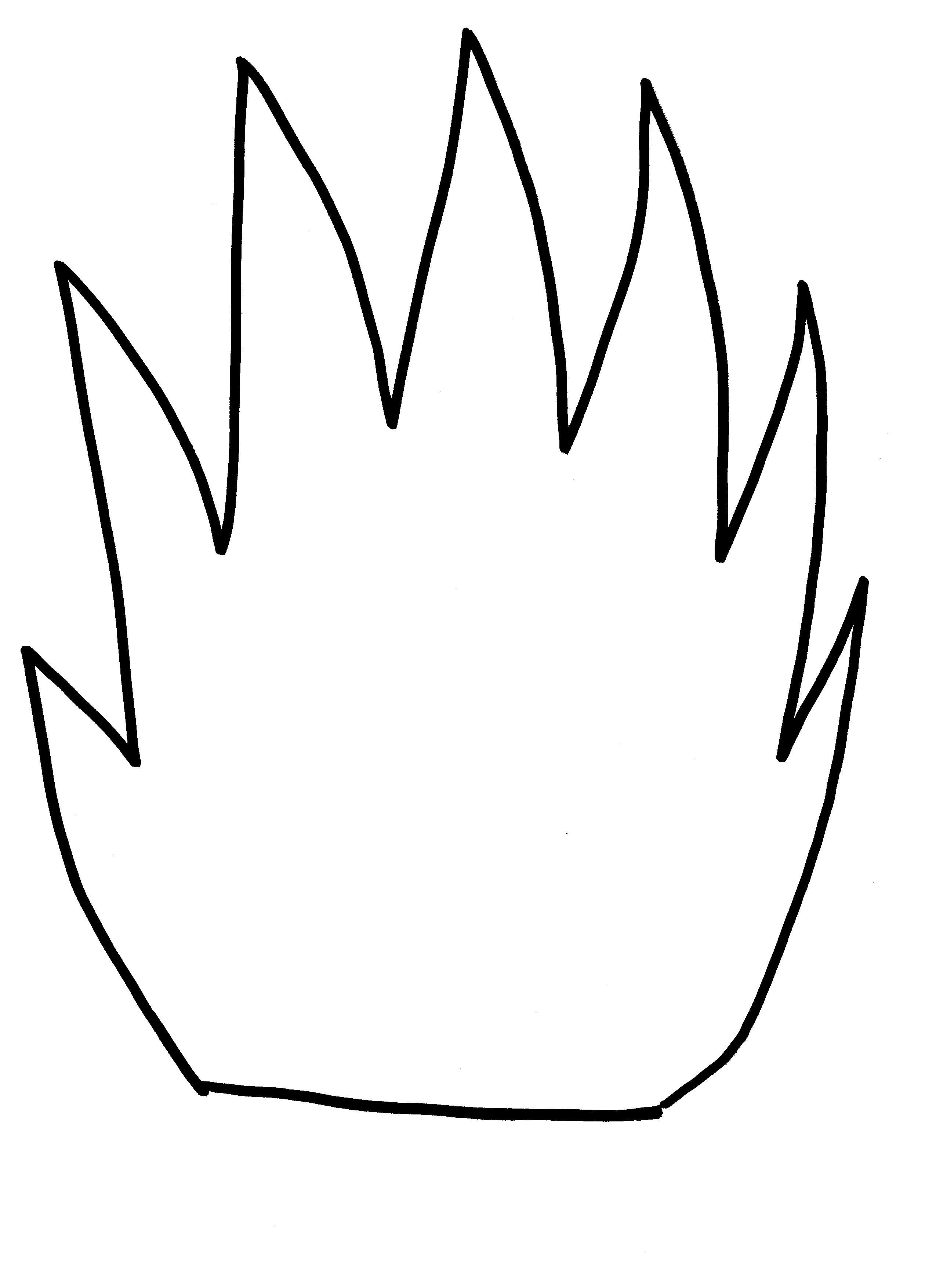 Flame Template Printout - Cliparts.co