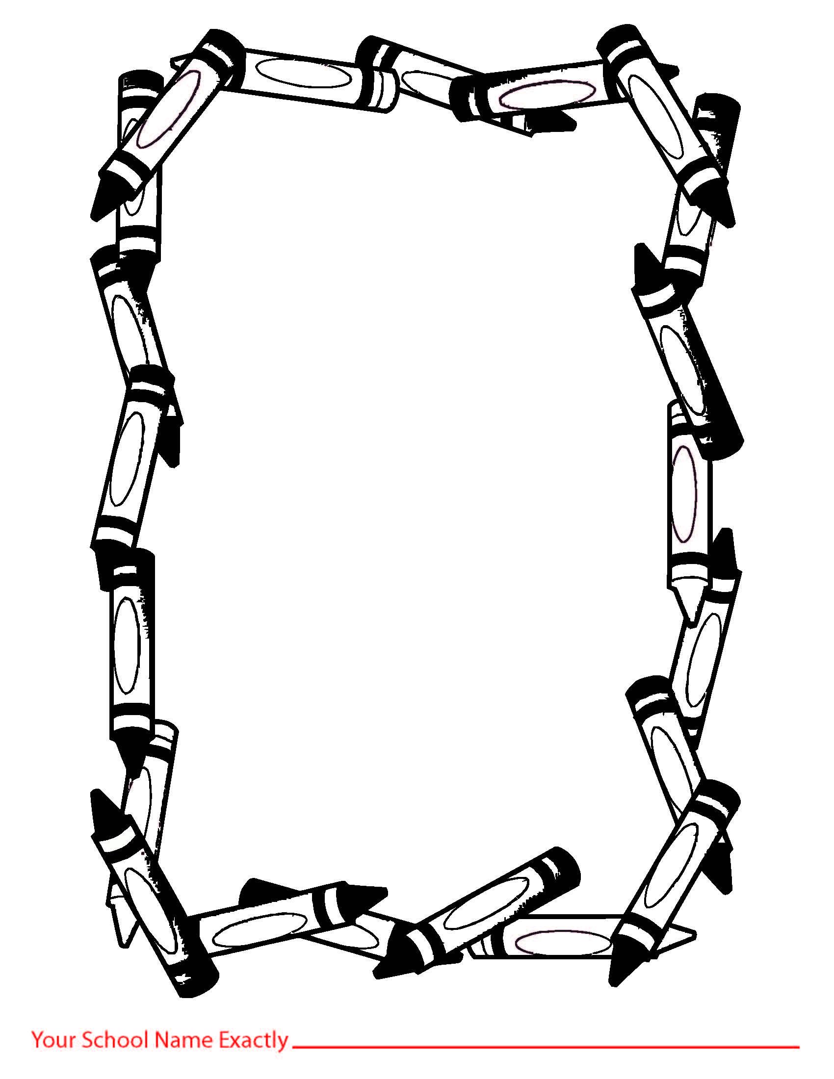 Crayon Border Clip Art - Cliparts.co