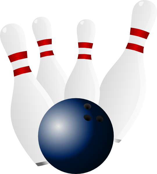 Bowling Ball And Pins clip art - vector clip art online, royalty ...