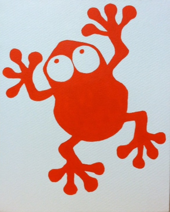 Popular items for frog silhouette on Etsy