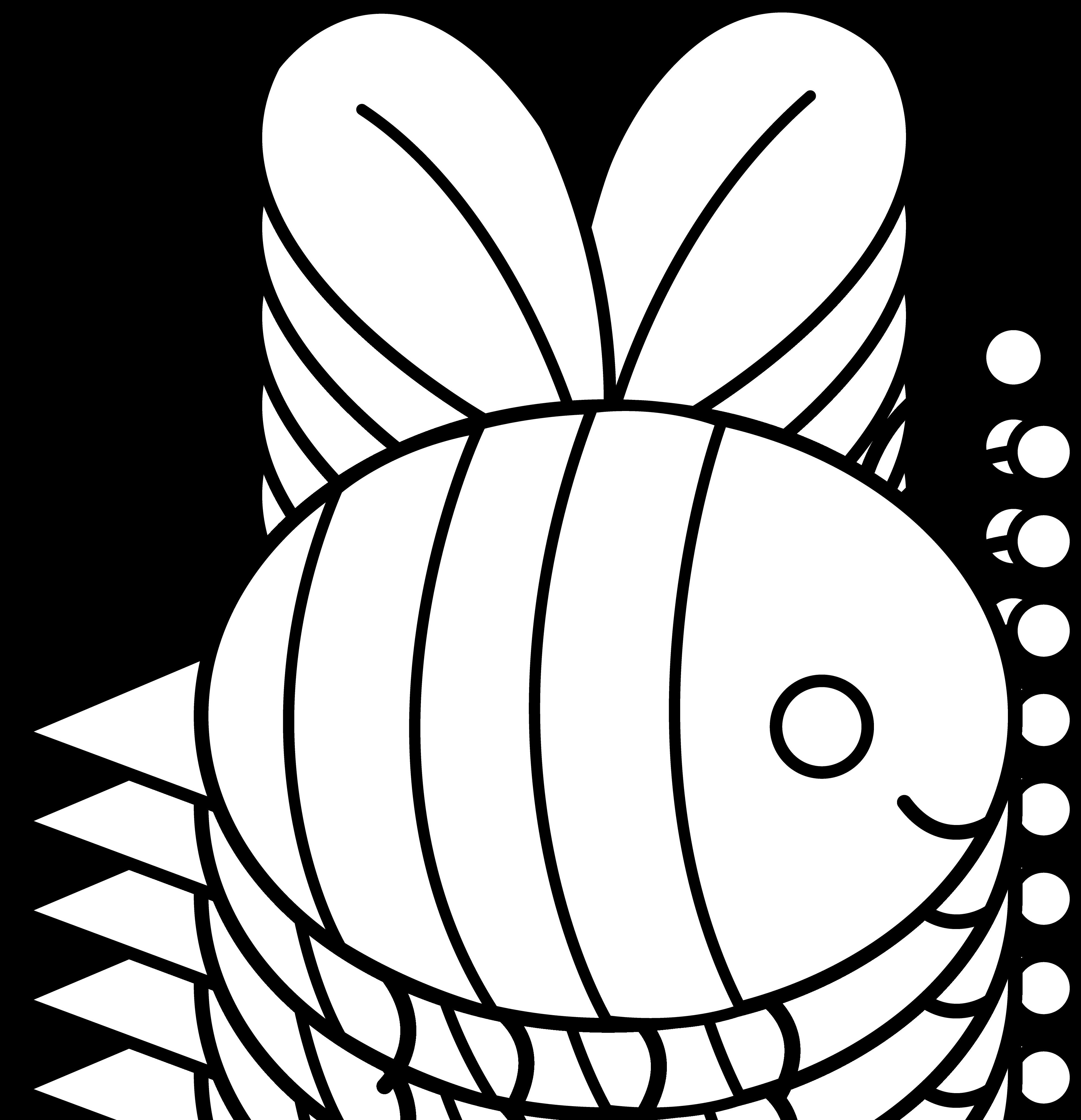 Zzve Line Art : Bee line art cliparts