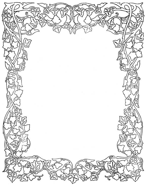 coloring pages flower borders - photo#3