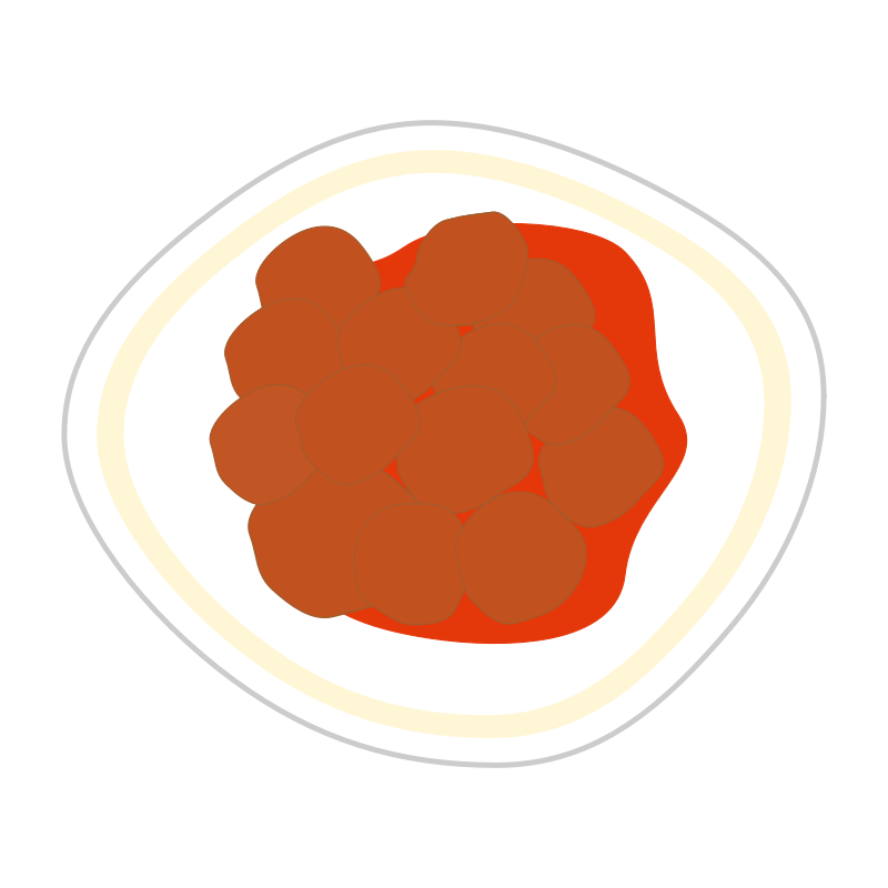 Clipart - Meatballs in tomato sauce