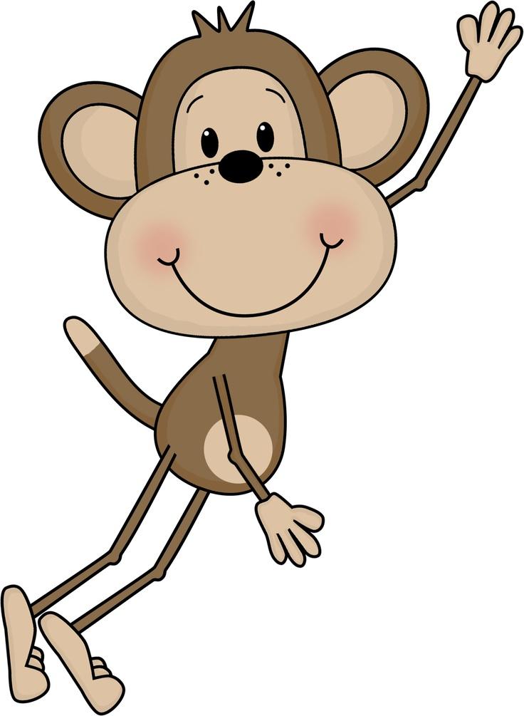 Swinging monkey clipart