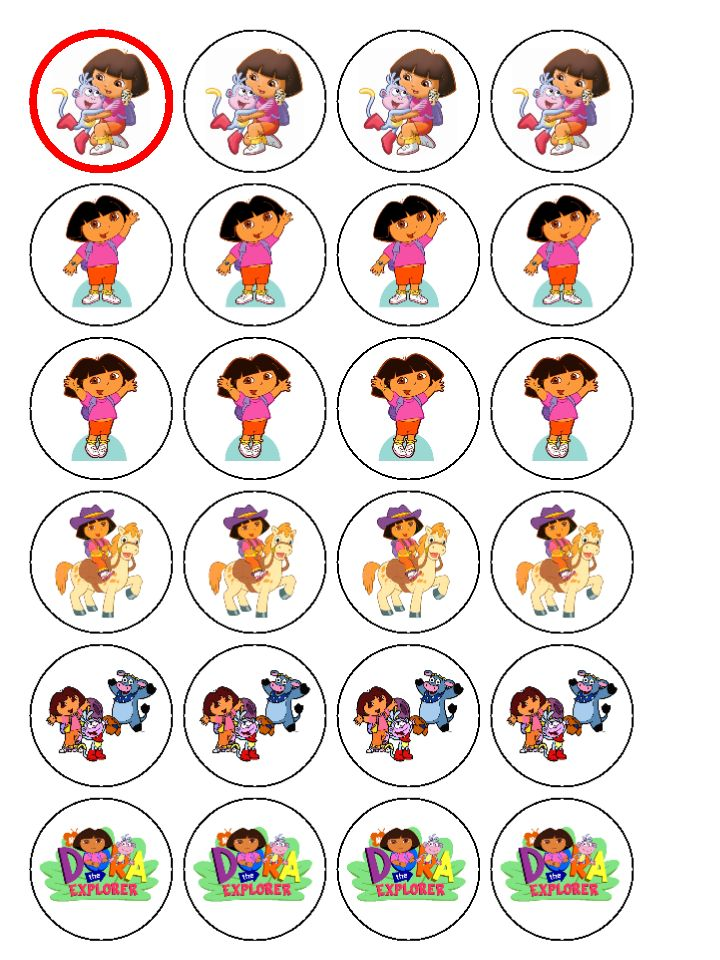 Dora Birthday Cake Toppers Nice | Birthday Cakes