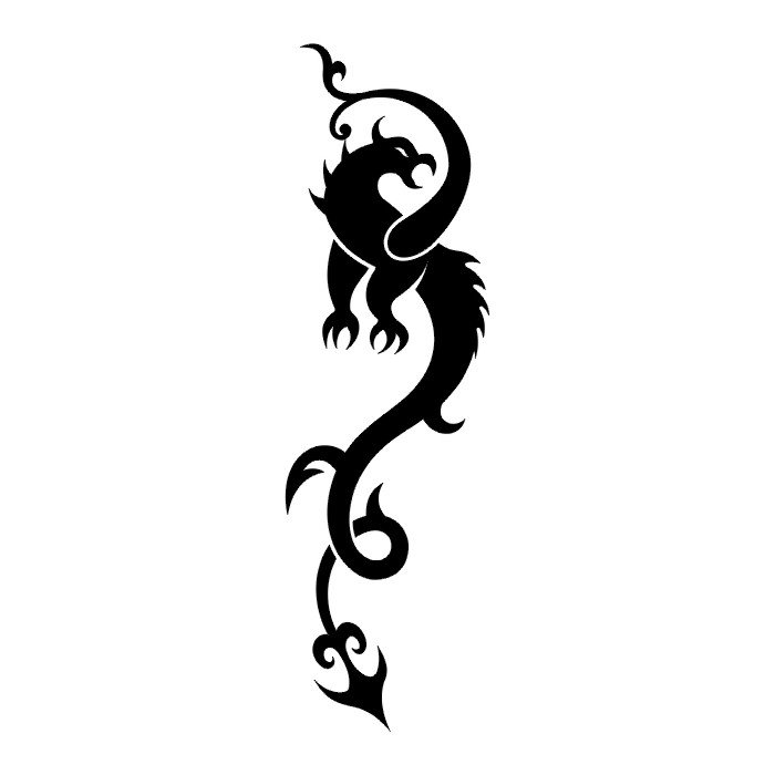 Black And White Tattoo Designs Dragon images  Hdimagelib