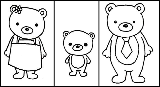 Goldilocks and the Three Bears Coloring Pages | 351x640