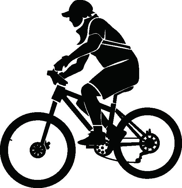 clipart mountain bike rider - photo #25