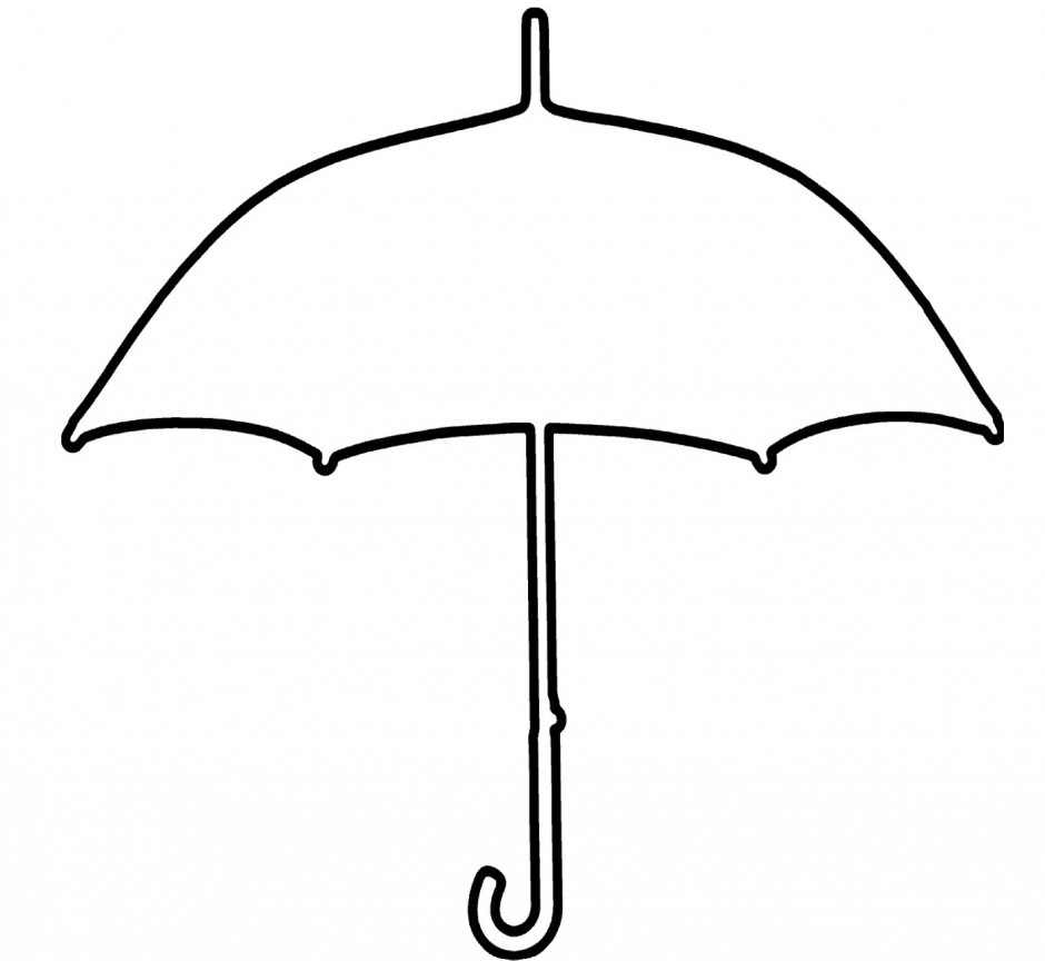 Umbrella Clipart Coloring Pages | Umbrella template, Umbrella ... | 864x940