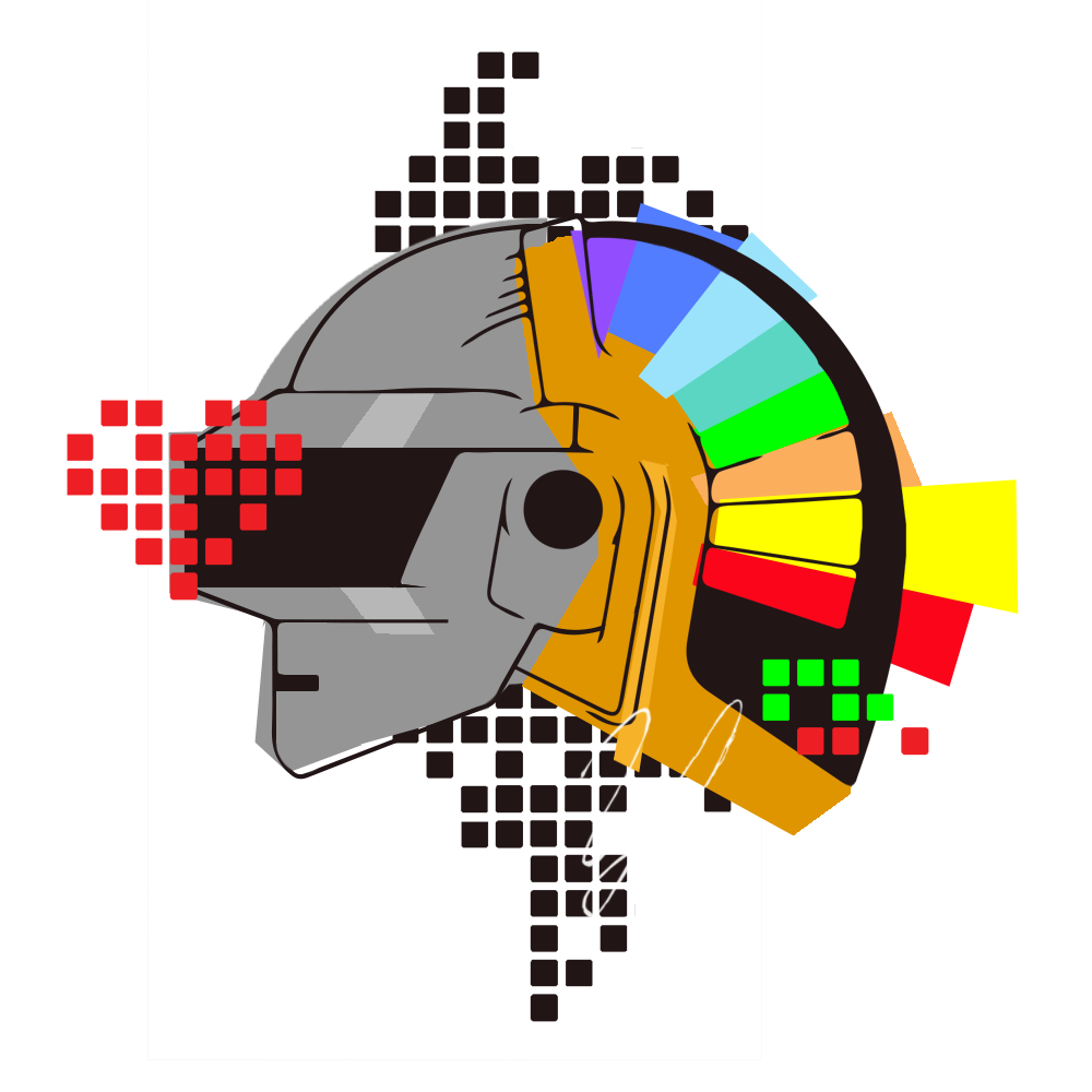 Cool Daft Punk t-shirt design I made (PNG) : DaftPunk