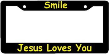 religious saying license plate frames at elicenseplateframescom