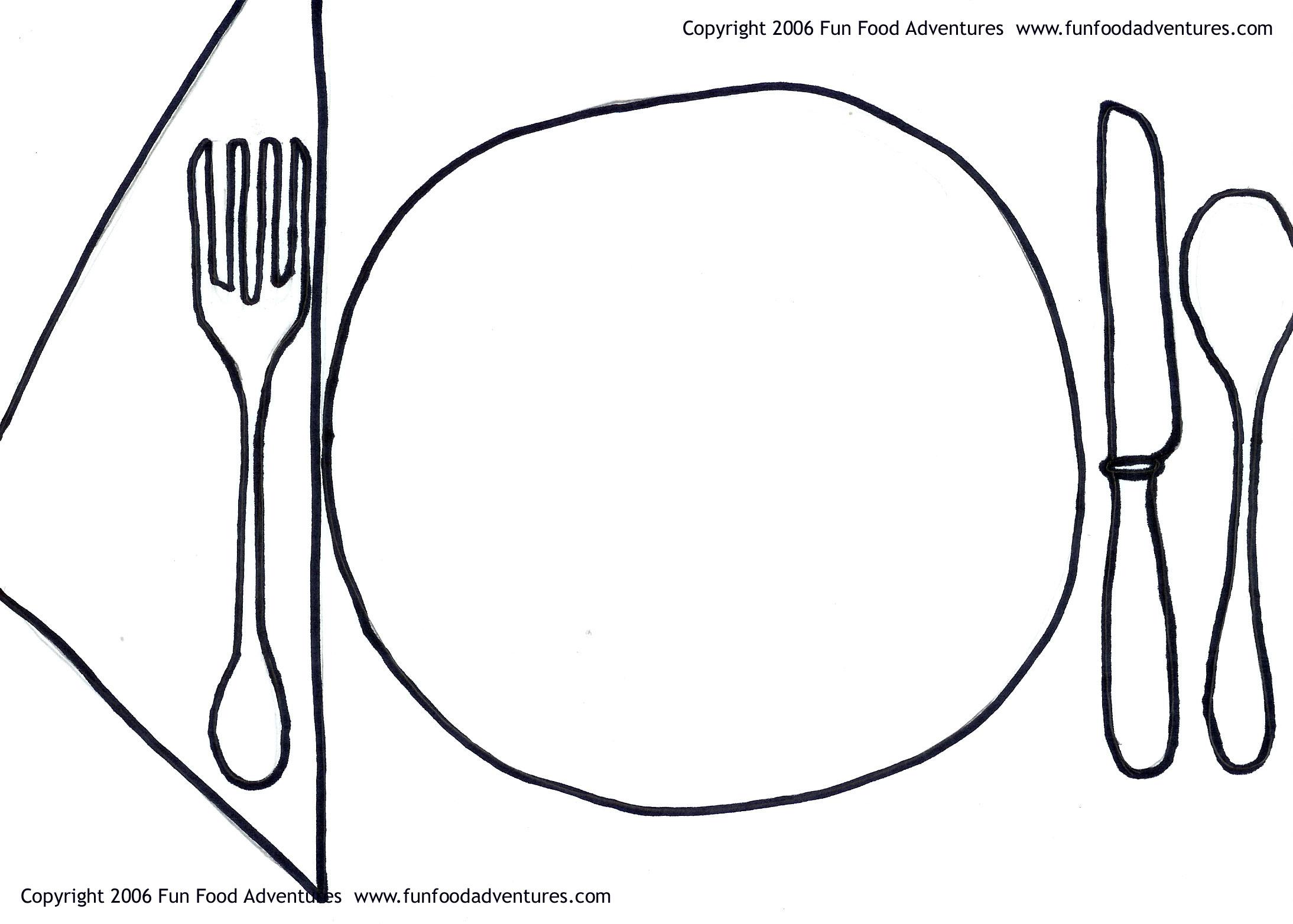Cartoon Dinner Plate - Cliparts.co