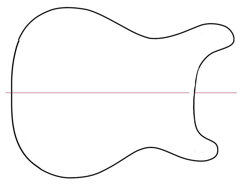 fender guitar outline - photo #44