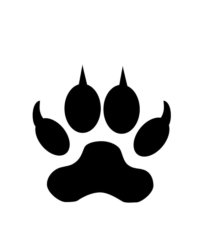 panther paw coloring page - free coloring pages