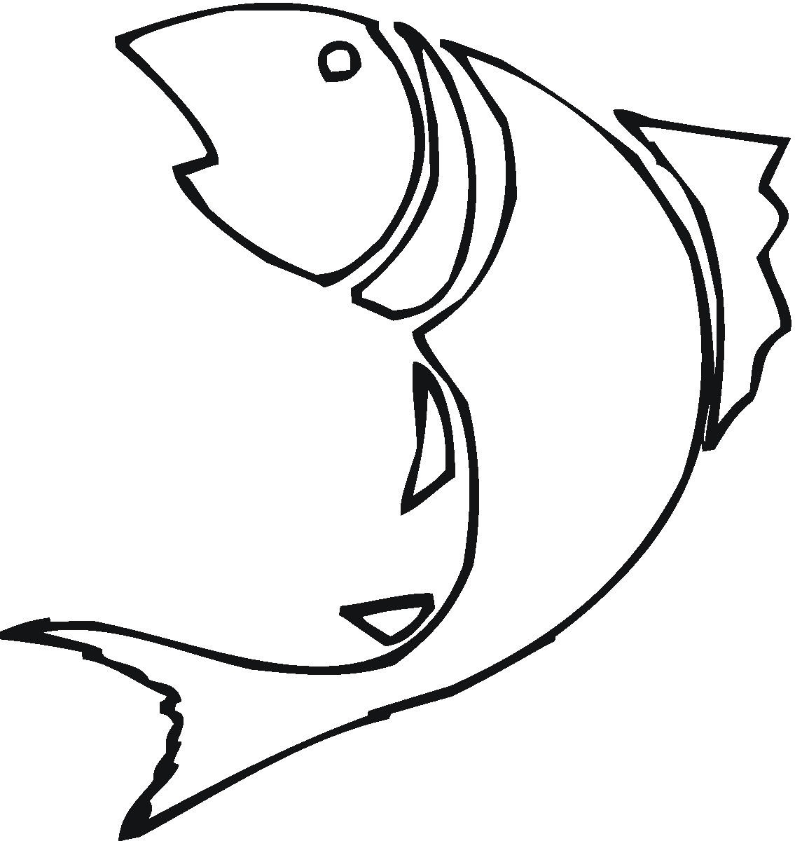 Line Drawing Of A Fish - ClipArt Best