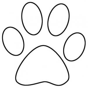 How To Draw A Tiger Paw Print Cliparts Co Paw Print Coloring Pages