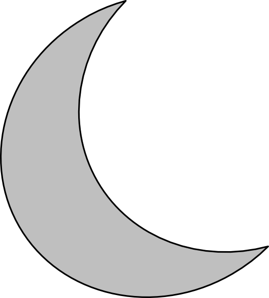 Crescent Moon Clip Art - Cliparts.co
