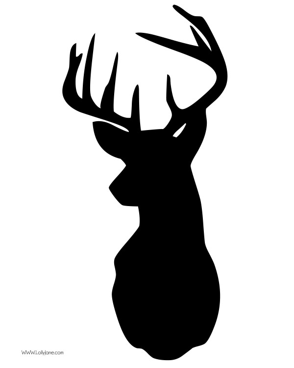 Deer Head Outline - Cliparts.co