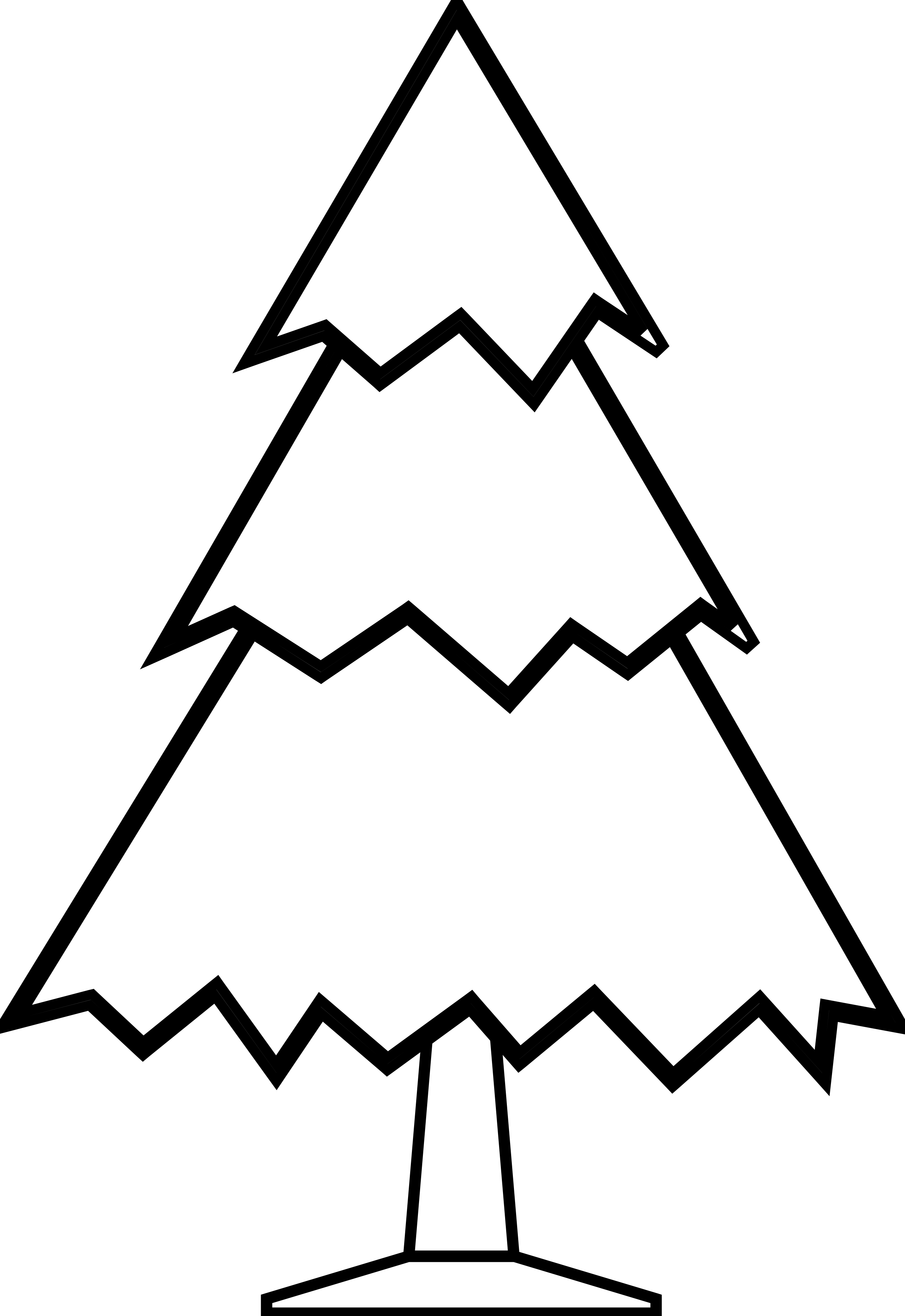 Line Art Of Tree : Christmas tree line drawing cliparts