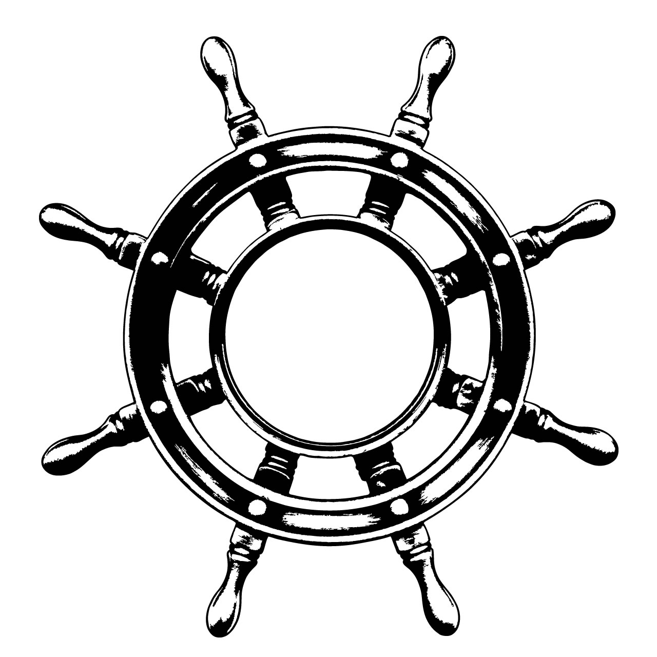 Images For > Ship Wheel Drawing