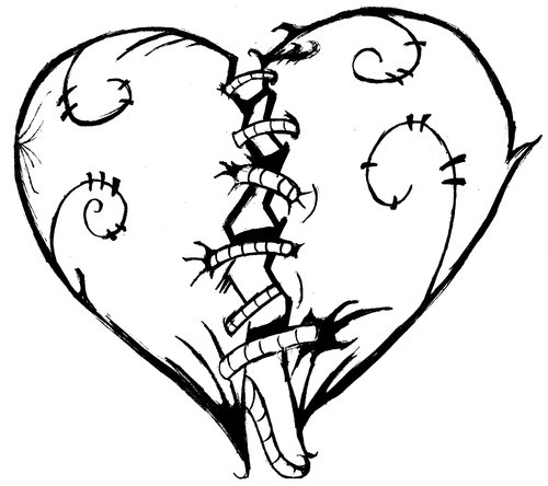 Broken Heart Coloring Pages Cliparts Co Pictures Into Coloring Pages