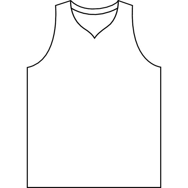 Line Art Jersey : Blank basketball jersey template cliparts