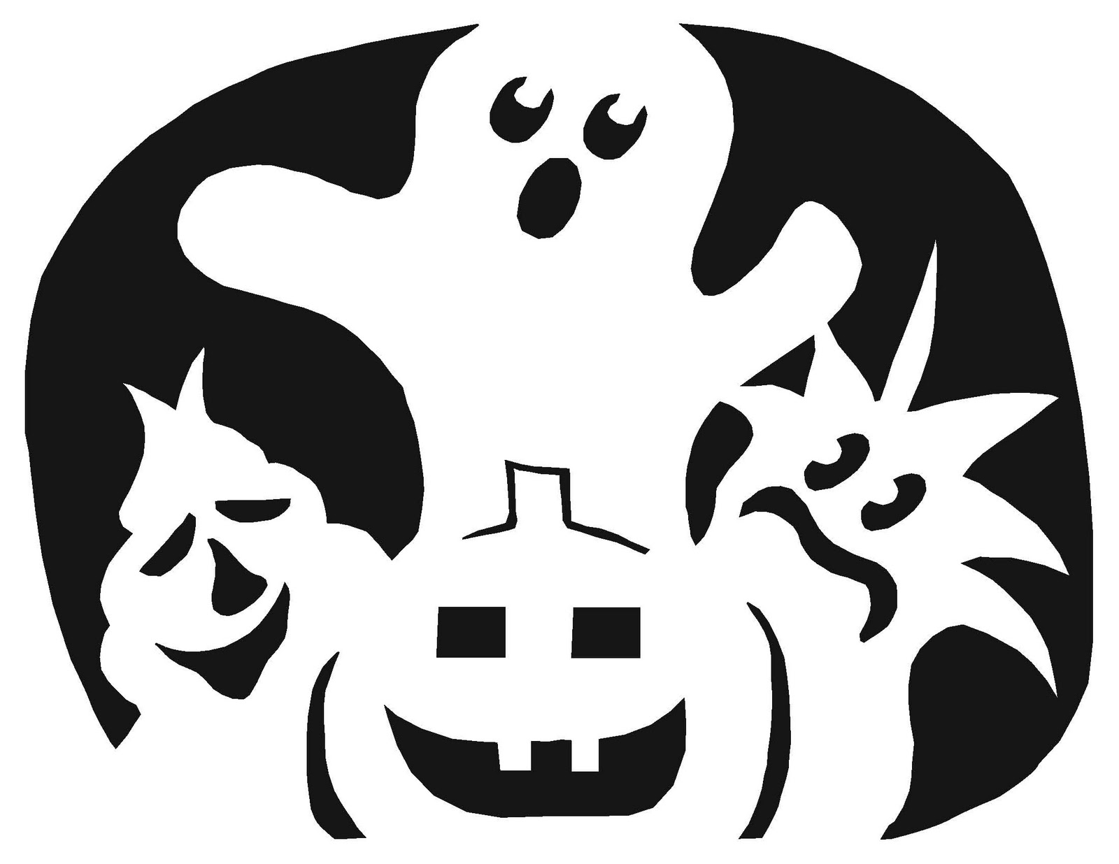 Printable Ghost Faces