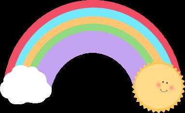 vertical rainbow border clipart