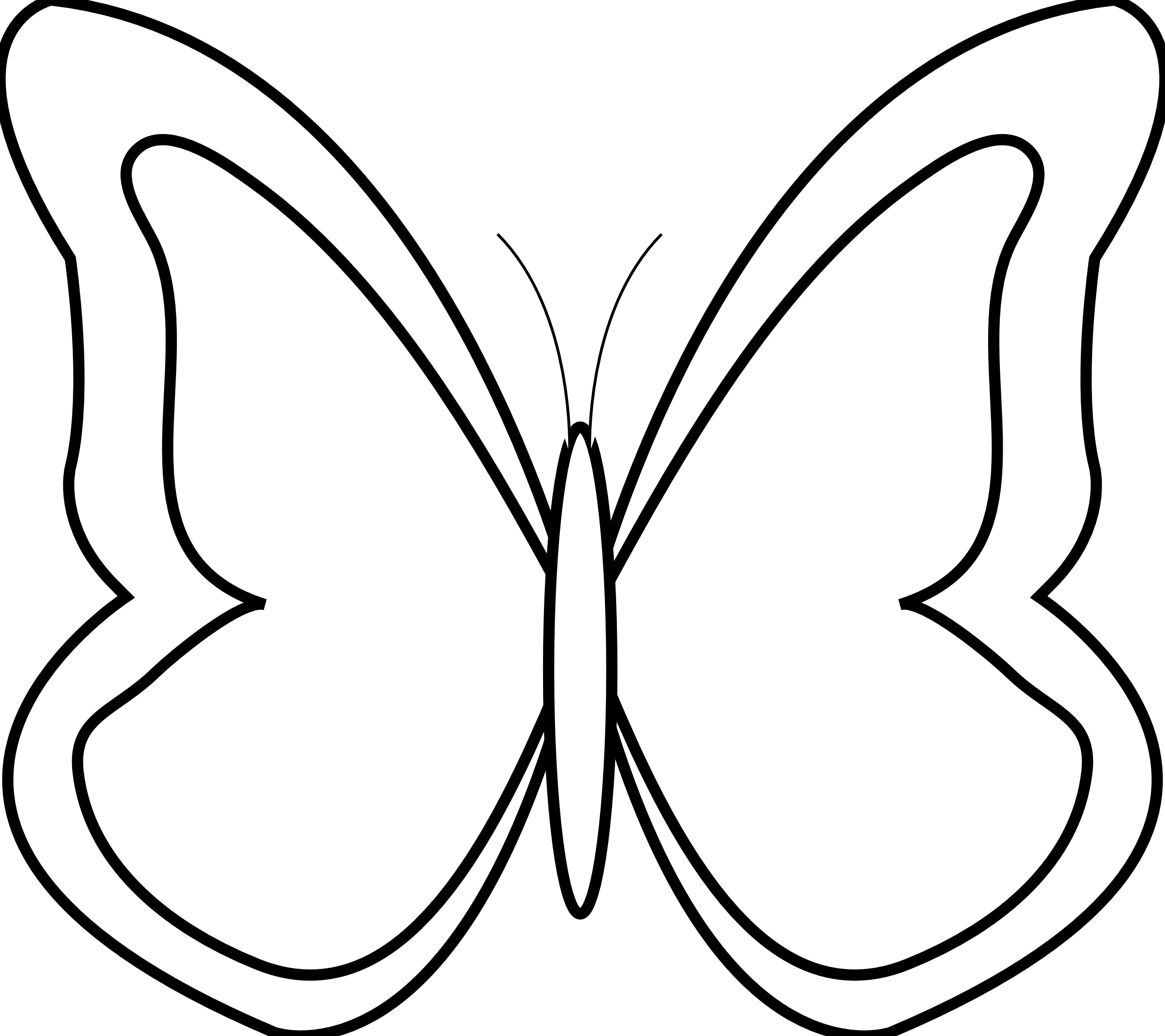 Butterfly Black And White Clip Art - Gallery Butterfly