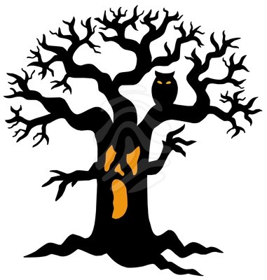 Halloween Tree Clipart Scary Tree Silhouette Clip Art