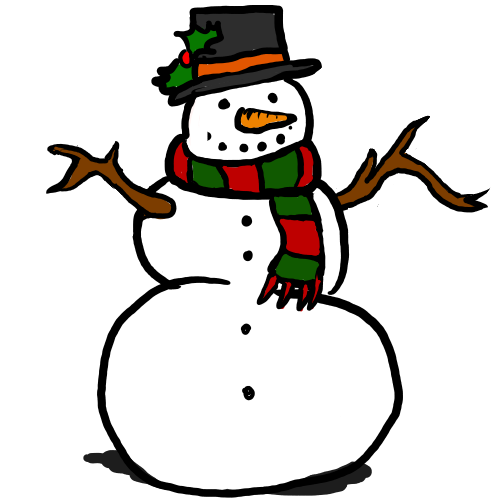 Clipart Snowman Free