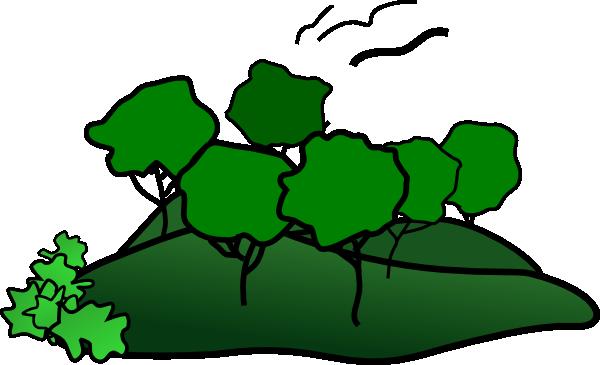 Landscape Mountain Trees clip art - vector clip art online ...